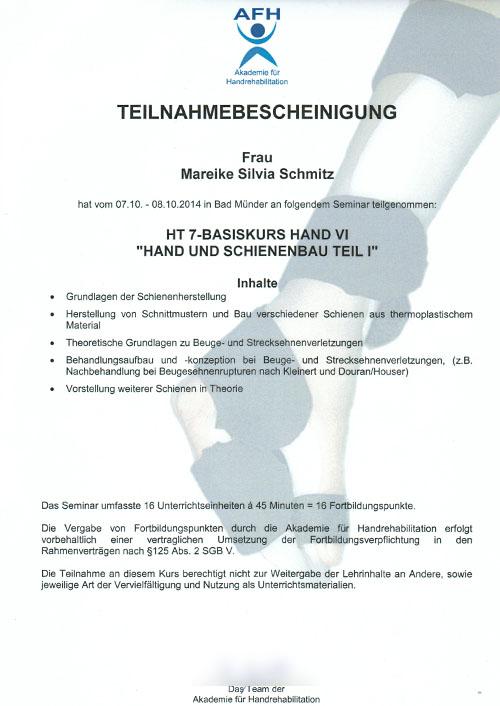 Handtherapeutin - Zum Vergrößern bitte auf das Bild klicken
