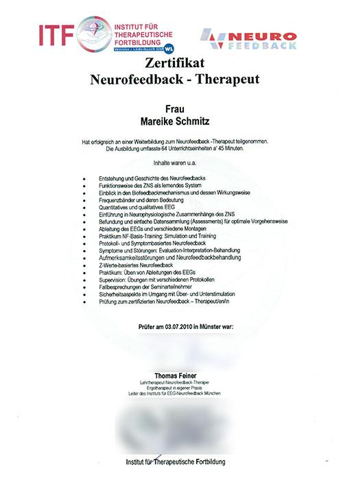 Neurofeedback-Therapeut - Zum Vergrößern bitte auf das Bild klicken